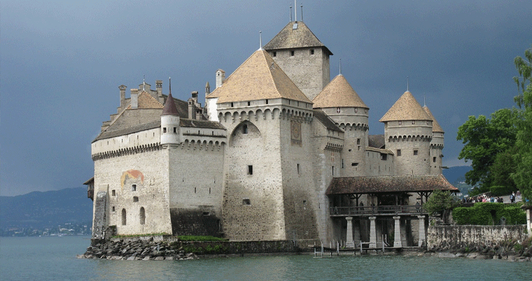 Schloss Chillon in der Region Montreux