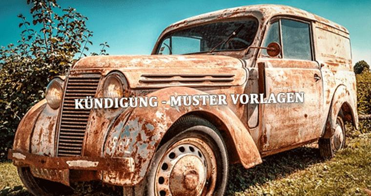 autoversicherung kndigen muster vorlage - Autoversicherung Kndigen Muster